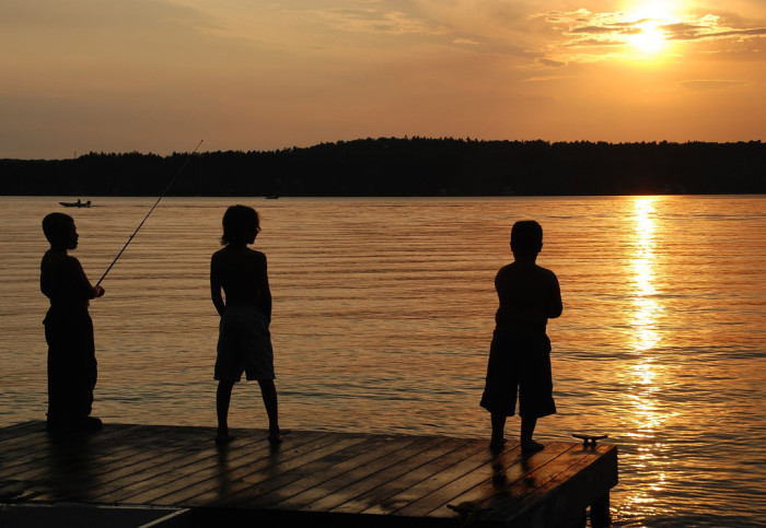 7. Our summers were spent like this.