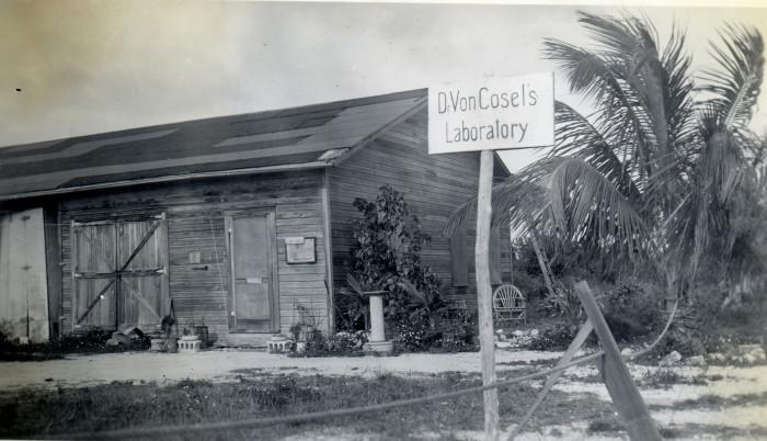 Count Carl Tanzler von Cosel laboratory near the end of Flagler Avenue C 1940.