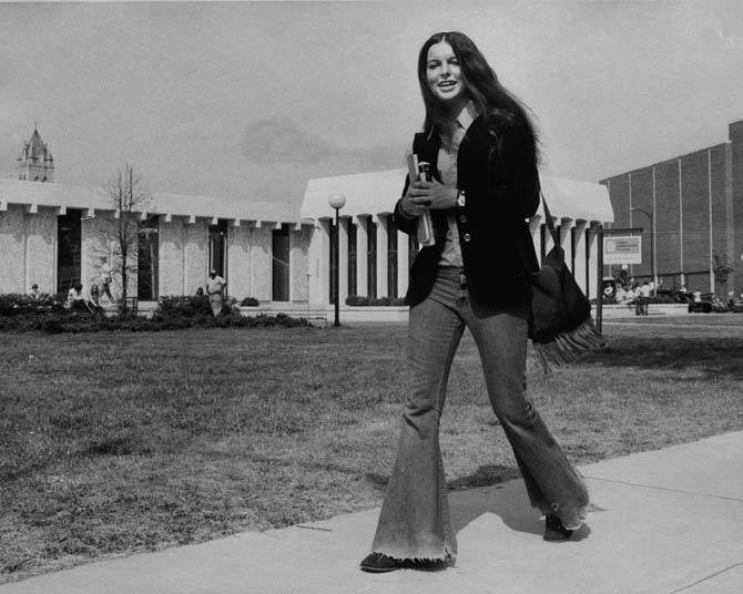 4. An iconic and typical fashion look from the 1970s.