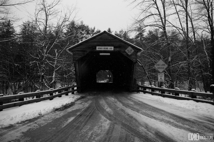 7. This covered bridge has seen many icy winters.