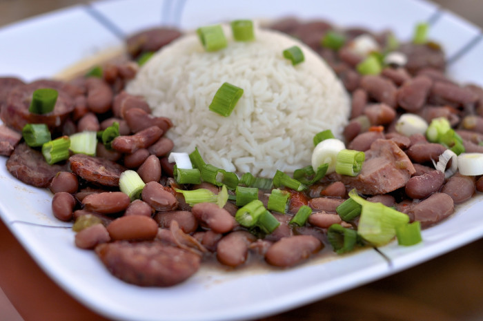 11. Get yourself home and have a bowl of the beans and rice you had cooking all day.