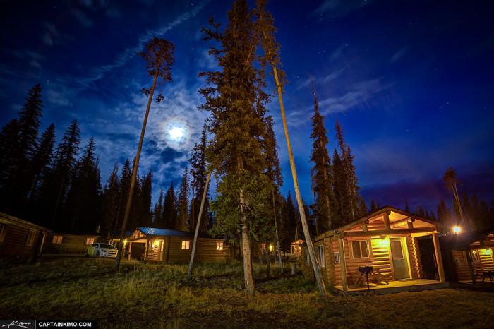 1. Beautifully Lit Cabins Near Grand Teton National Park