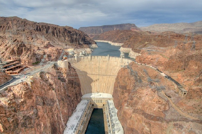 3. At its base, Hoover Dam is as thick as two football fields measured from one end to the other.