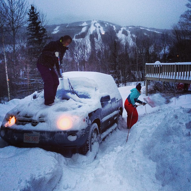 19.  Help someone get their car out of the snow (or mud).