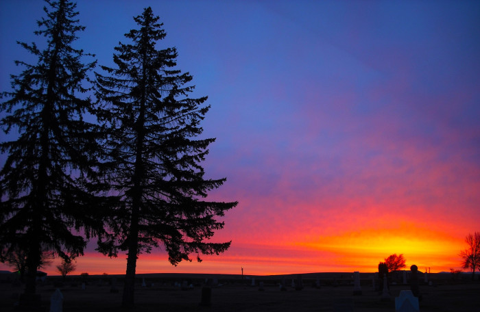 1. Start the day with a beautiful Oregon sunrise.