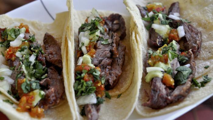 2. Carne asada tacos