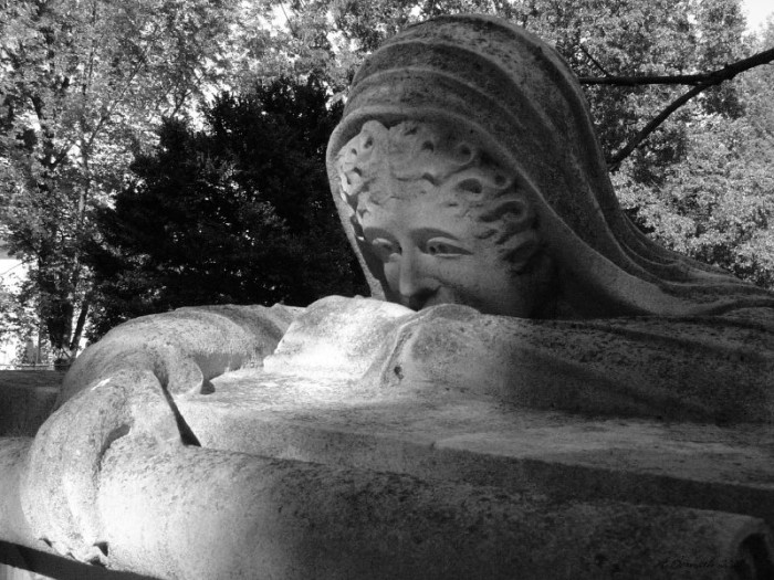 1. Weeping Woman Statue