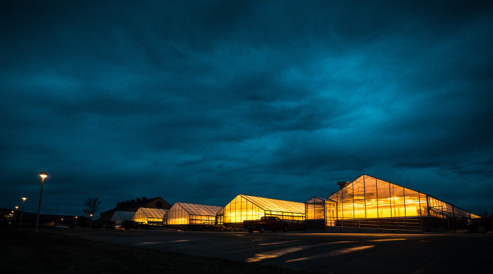 3. Surreal clouds over the USDA agricultural research center at NDSU.