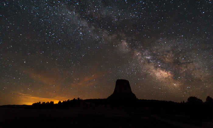 4. Devil's Tower At Night