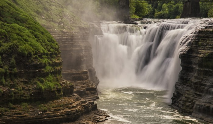 Beautifully captured here, you can see the Upper Falls of Letchworth.