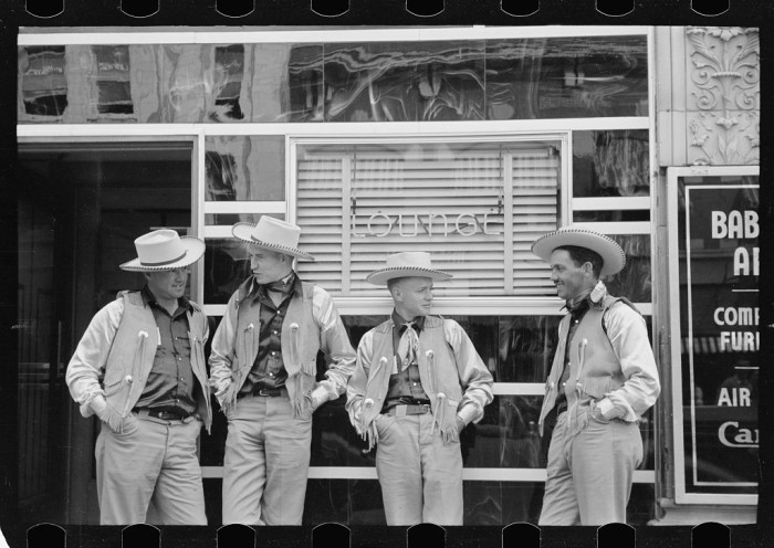 10. Four Cowboys Stand In Front of a Bar in Billings