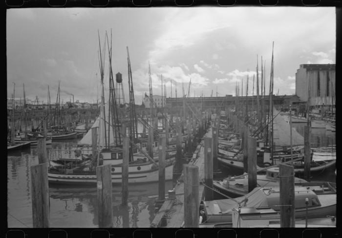 14. Fishing boats in Astoria,  1941.
