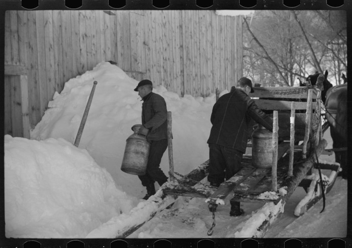17.  Mr. Gilbert and hired man had to haul all their water in milk cans during winter months as all other sources of water were frozen. Woodstock.