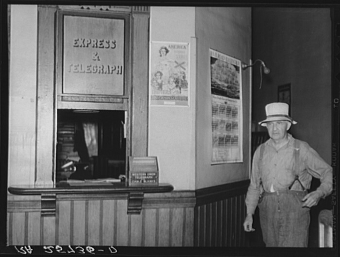7.  Interior of railroad station in Randolph.