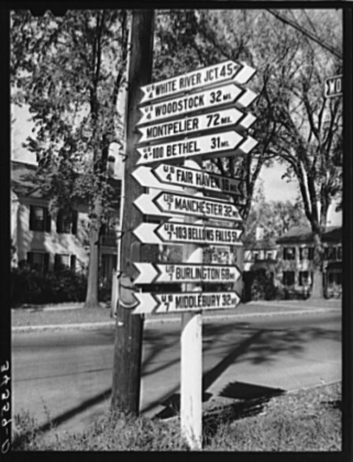 1.  Highway signs in Rutland.