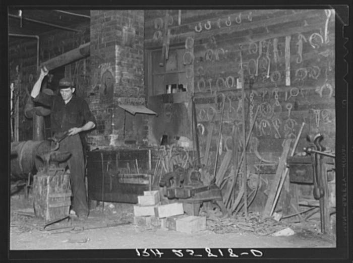 14.  Blacksmith in Lowell.
