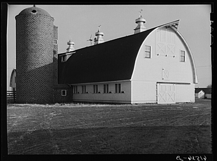 """3. """"Barn on large farm in Red River Valley. Cass County, North Dakota"""""""
