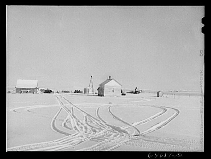 "6. ""Hettinger County, North Dakota. Farmyard"""