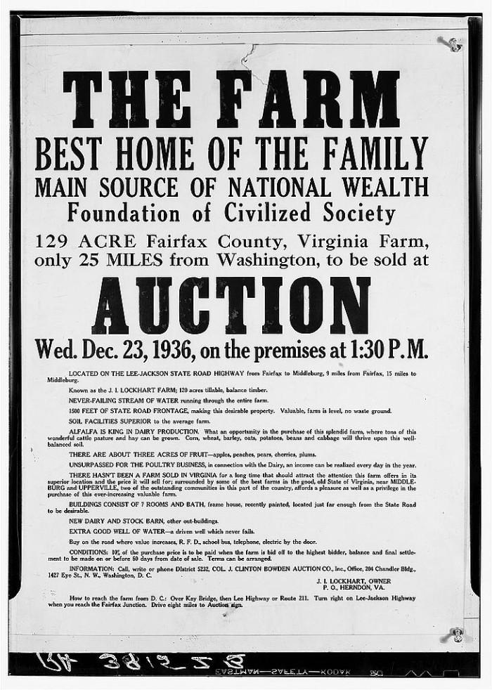 5. Handbills advertising auctions