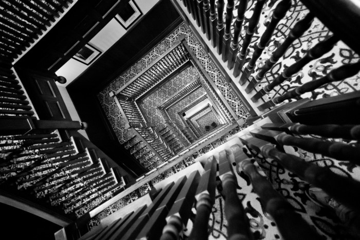 6) And the staircase.
