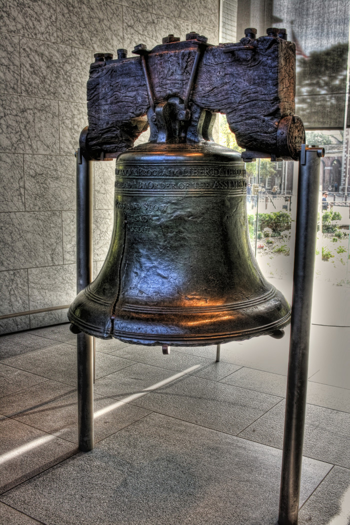 24. Liberty Bell, Pennsylvania. Swing by Philly to see one of America's most iconic symbols. Never forget your freedom as you travel through the country.