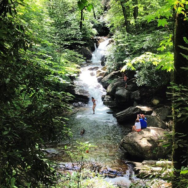 3. Hike and swim at Skinny Dip Falls.