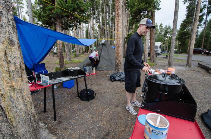 9. Grant Village Campground