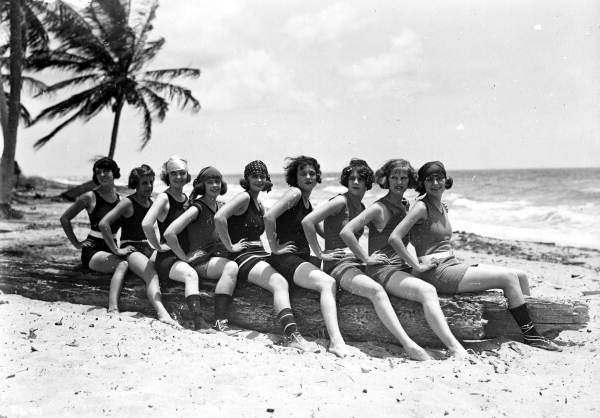Young women at Miami Beach