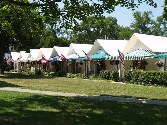 5. Ocean Grove's summertime tent colony has been around since 1869.