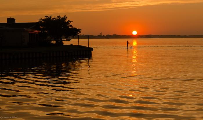 2. What a dreamy spot for paddle boarding! Photo taken in Ocean City.