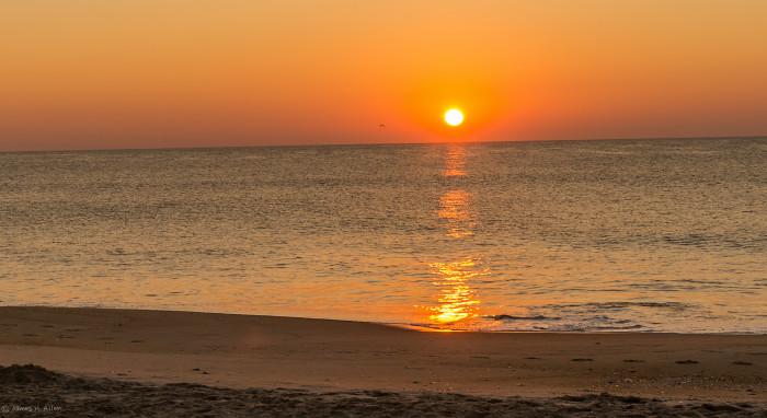 9. A moment of stillness on the Atlantic Ocean.