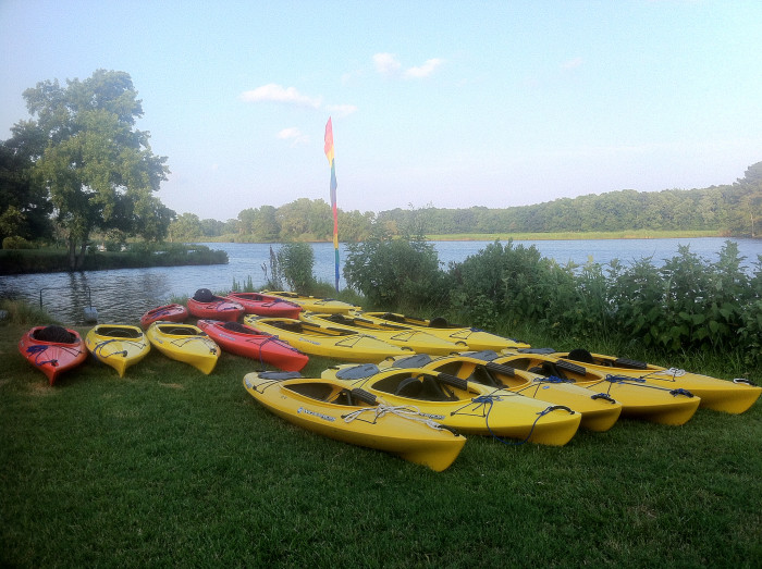 Berlin has its scenic parts, too. Ayers Creek is perfect for a quiet day of kayaking.