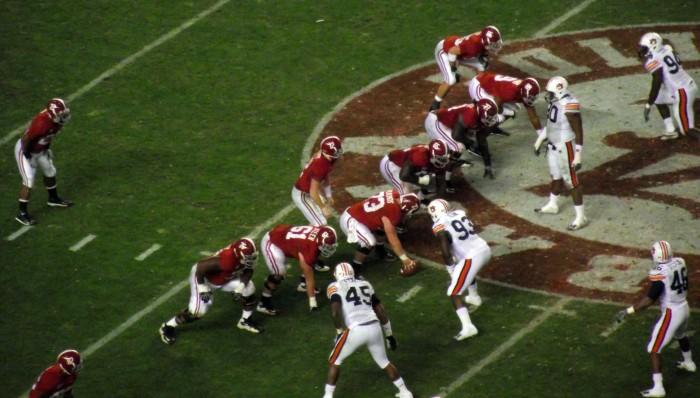 1. Choose a side: University of Alabama or Auburn University.