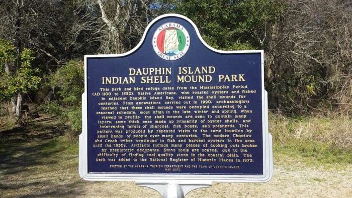 2. Indian Shell Mound Park - Dauphin Island, Alabama