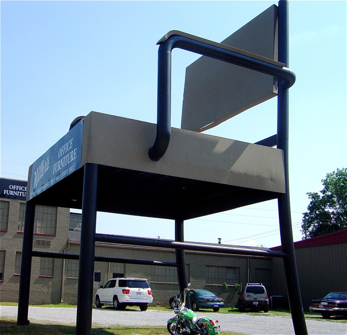 2. Anniston, Alabama is home to the World's Largest Office Chair, which is made from 10 tons of steel.