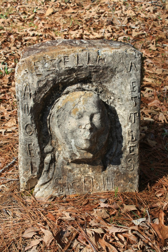 3. Mt. Nebo Baptist Church Cemetery, located in Clarke County, includes several tombstones featuring death masks that were cast from the people whose graves they mark.