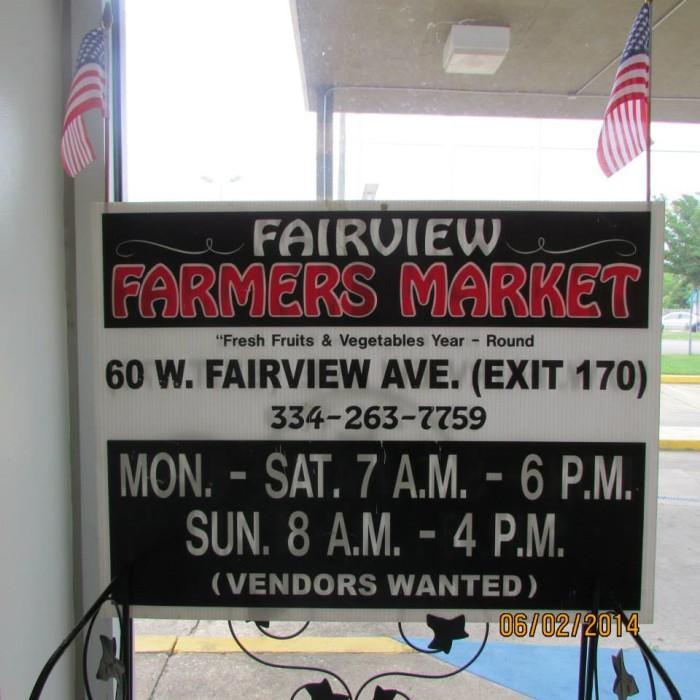 7. Fairview Farmers Market - Montgomery, AL