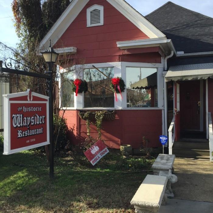 Breakfast: The Historic Waysider Restaurant - 1512 Greensboro Ave, Tuscaloosa, AL 35401