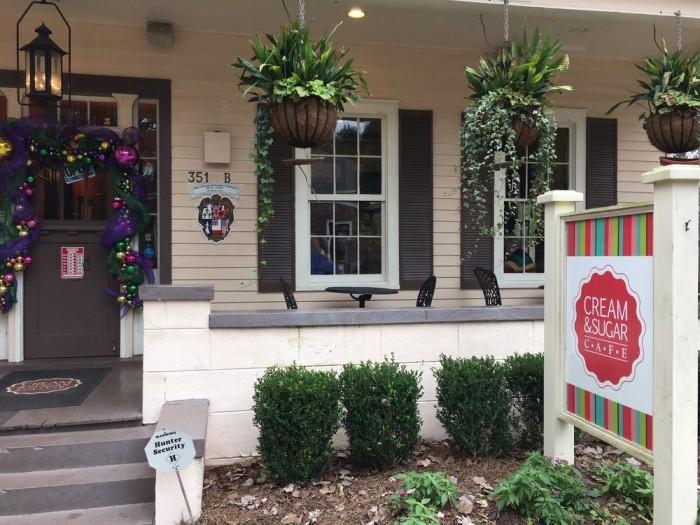 Breakfast: Cream & Sugar Cafe - 351 George St, Mobile, AL 36604