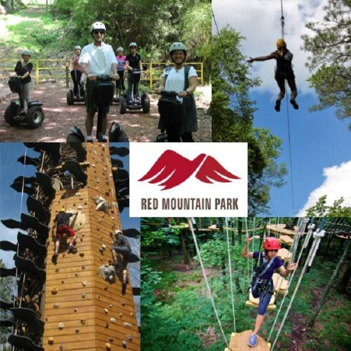 4. Challenge yourself  at Red Mountain Park by trying out their Adventure Area.