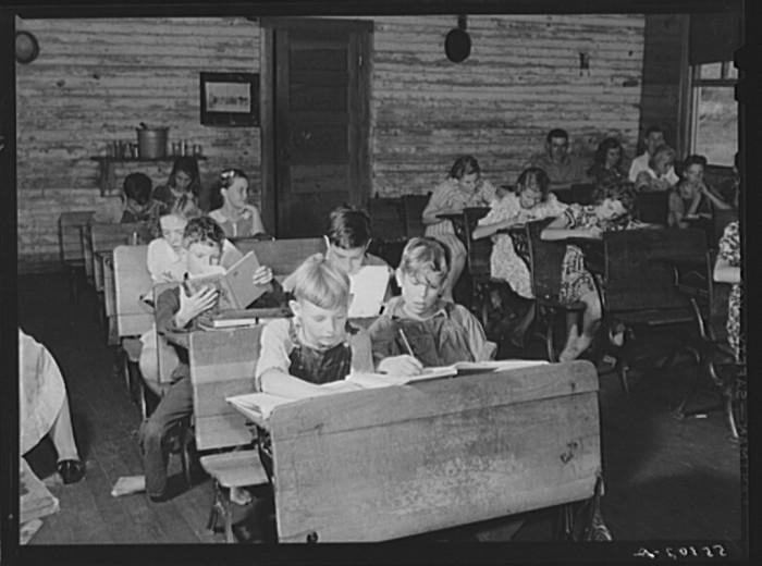 One Room School House Class Photo