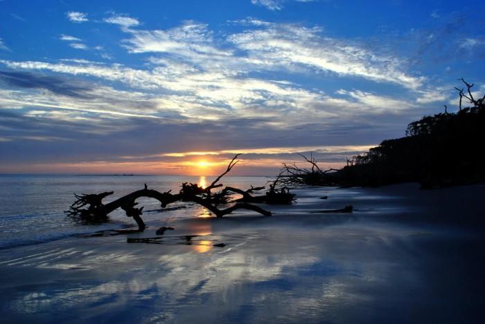 Big-Talbot-Island_contest_Elisa-Westberry_Sunrise-reflecting-clouds-on-a-r