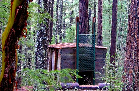 6. The (now defunct) North American Wildlife Research Team erected a Bigfoot trap in the Siskiyou National Forest in 1974. It was kept baited with animal carcasses for six years.