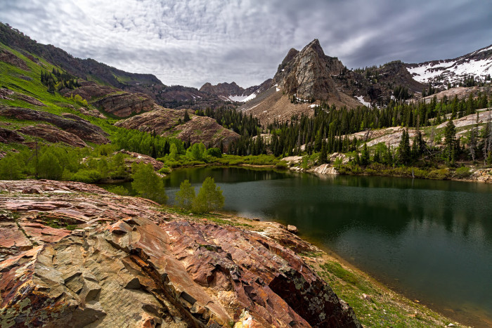 11. Lake Blanche in the Twin Peaks Wilderness Area, Utah.