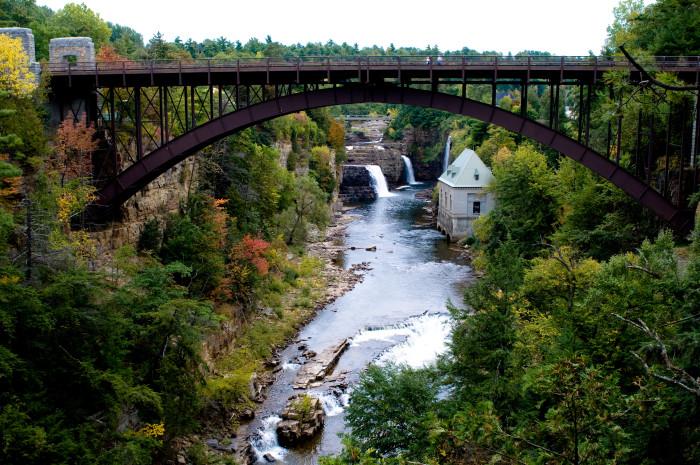 1. AuSable Chasm Bridge, Clinton County