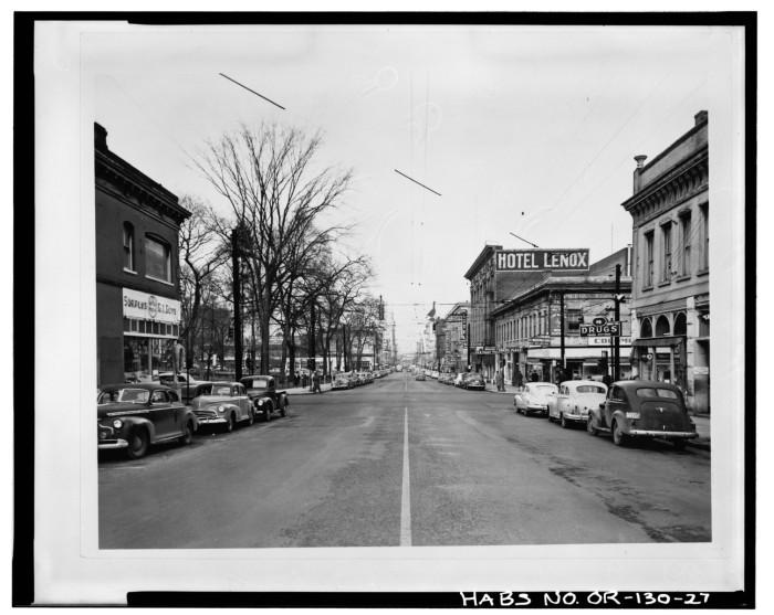 11. SW Third Street in Portland, 1948.