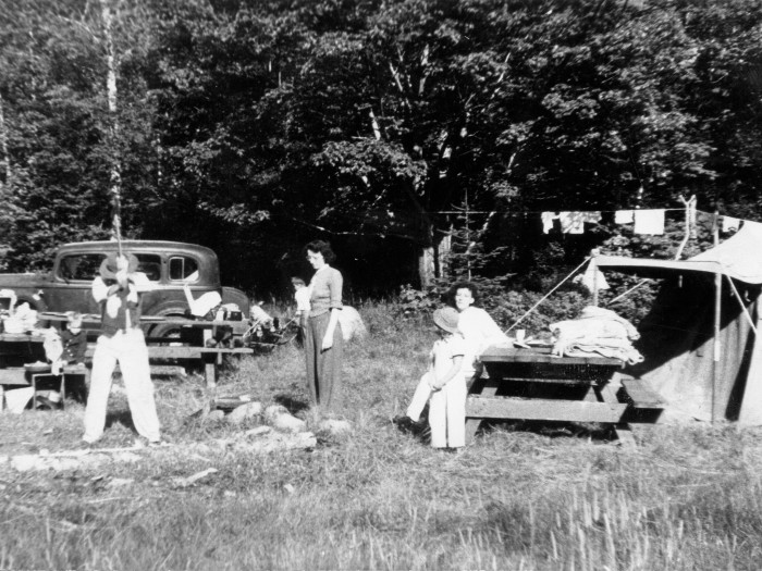 9. New Hampshire campsites in the early 1940s didn't look too different than today.