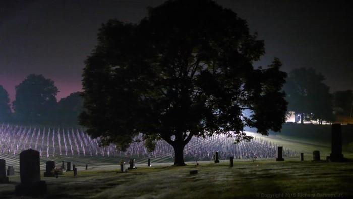 10. Cemetery at night