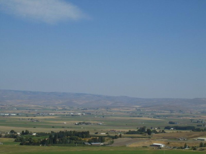 11. You'd never get tired of this view of green farm land in Central Washington.