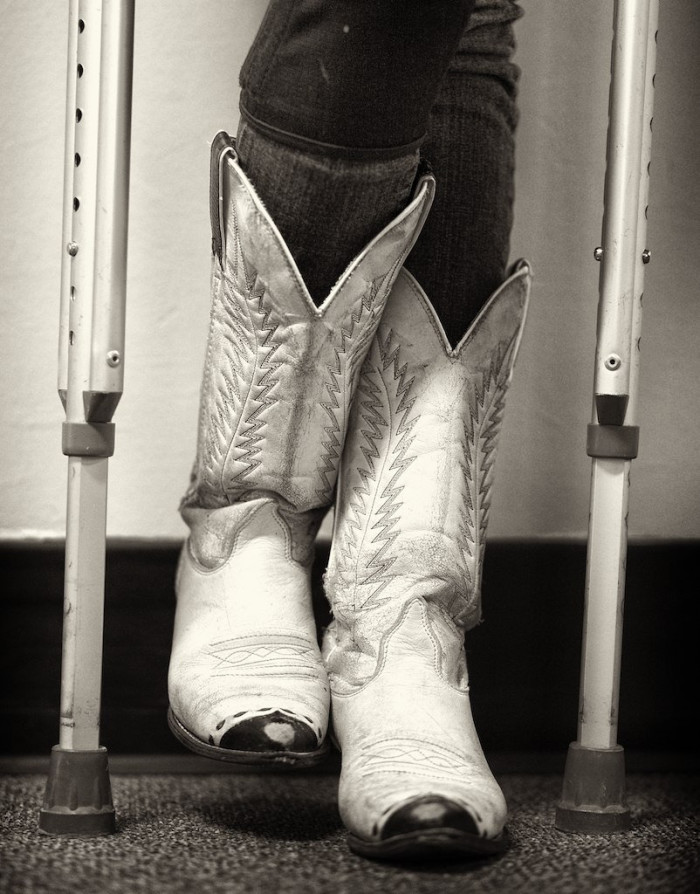 8) Cowboy boots are the norm.
